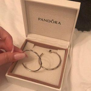 Pandora hoop earrings